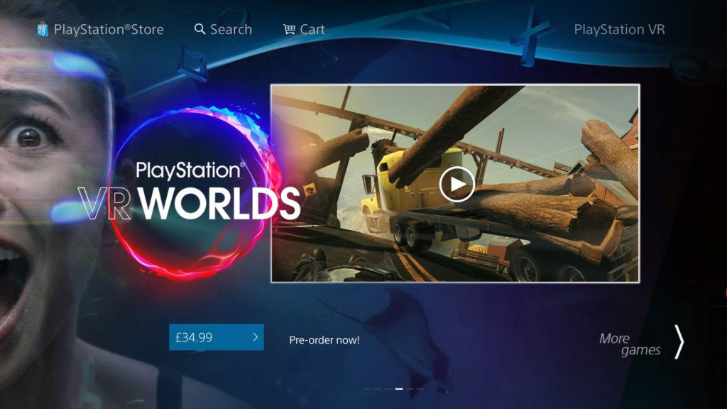 PS Store - PlayStation VR Worlds
