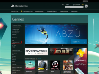 PlayStation VR menüpont a magyar PS Store-ban
