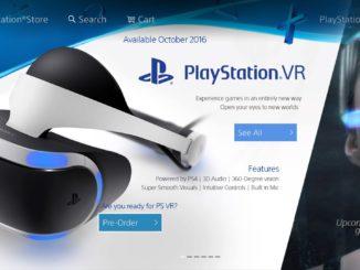 PlayStation VR a PS Storeban
