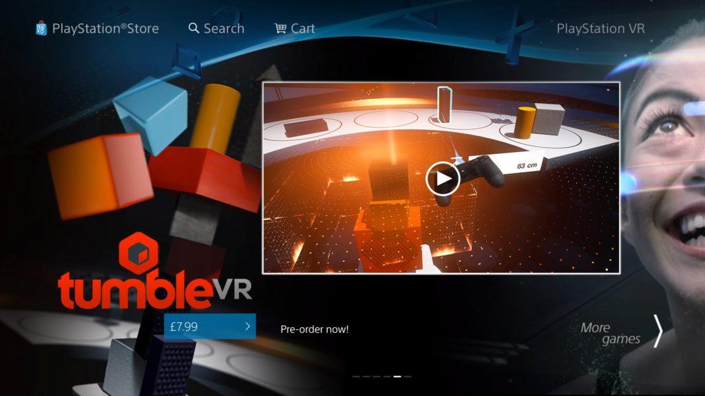 PS Store - Tumble VR